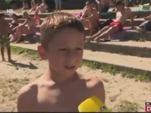 Dječak iz Osijeka hit je na društvenim mrežama: Evo kako je 'spustio' reporteru