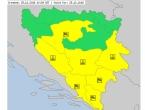 Žuti meteoalarm u većem dijelu BiH