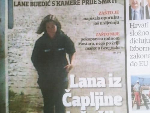 Večernji list: Lana Bijedić je kilometrima sama hodala kroz Čapljinu prije smrti