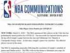 Suspendirana NBA liga, suigrač Bojana Bogdanovića testirao pozitivno na koronavirus
