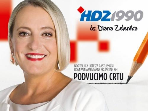 Dr. Zelenika i službeno kandidatkinja za predsjednicu HDZ 1990