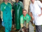 Duvanjski veterinari carskim rezom otelili kravu s dvoglavim teletom
