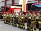 Sarajevski vatrogasci sirenama odali počast stradalom kolegi iz Hrvatske