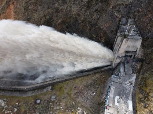 VIDEO: Proba temeljnog ispusta brane HE Rama