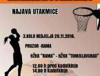 NAJAVA: HŽKK 'Rama' - HŽKK 'Tomislavgrad'