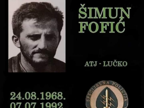 FOTO: U Rumbocima obilježena 29. obljetnica pogibije Šimuna Fofića Fofe