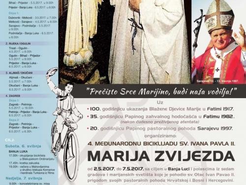Međunarodna biciklijada u čast sv. Ivana Pavla II. prema Banja Luci
