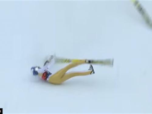 Težak pad nakon 201 m dugog leta Gregora Schlierenzauera