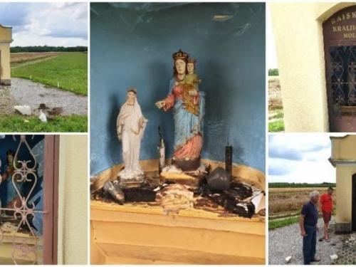 Vandalizam: Zapalili stogodišnji pil Blažene Djevice Marije u Međimurju