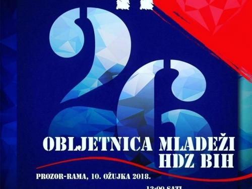 26. obljetnica osnivanja Mladeži HDZ-a BiH obilježit će se u Rami
