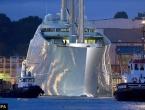 Najveća jahta na svijetu na probnoj plovidbi