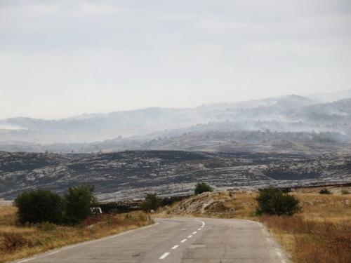 FOTO/VIDEO: Požar od Baljaka prema putu za Ramu