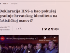 Ogoljena misao: Sarajevski medij Hrvate u BiH proglasio fašistima!