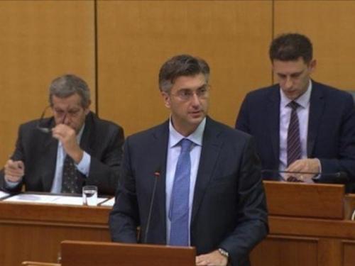 Sabor izglasao povjerenje Vladi Andreja Plenkovića
