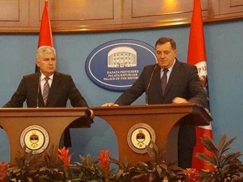 Čović i Dodik danas na sastanku u Banja Luci