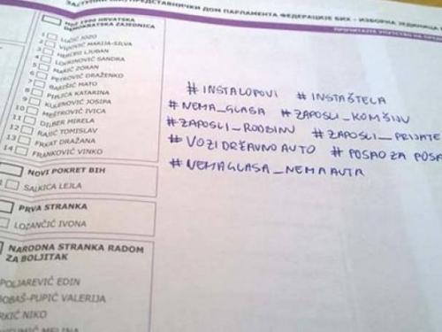 Smiješna strana izbora: Što su birači pisali po listićima