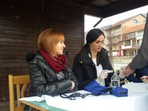 Mjerenjem krvnog tlaka i šećera u krvi u Prozoru obilježen Dan bolesnika
