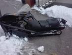 Prometna u Ripcima, povrijeđen vozač motornih sanki