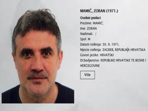 Raspisana tjeralica za Zoranom Mamićem