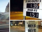 Gužve zbog niskih cijena goriva na jednoj benzinskoj crpki u Ljubuškom