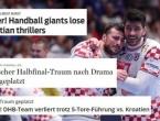 """Njemački mediji nakon poraza: """"Rukometni giganti su izgubili u hrvatskom trileru..."""""""