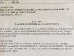 SDP službeno zatražio zabranu održavanja koncerta hrvatskim uznicima