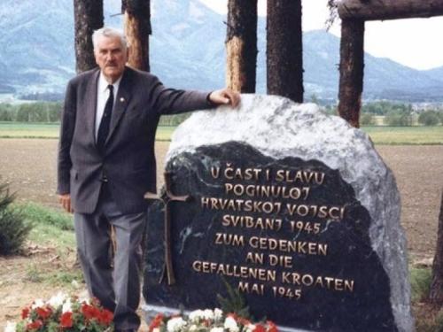 Godišnjica smrti Petra Miloša, Brotnjaka koji je izgradio spomenik na Bleiburškom polju