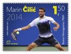 HP Mostar prigodnom poštanskom markom čestita Marinu Čiliću rođendan i veliki uspjeh na US Openu