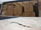 Livno: Migranti rasjekli ceradu i ušli u kamion