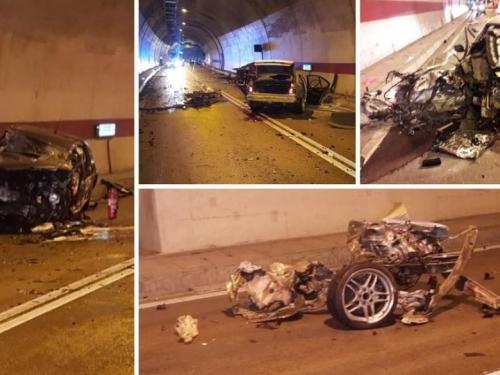 VIDEO: Snimka iz tunela Sv. Ilija: BMW izravno udario u C4