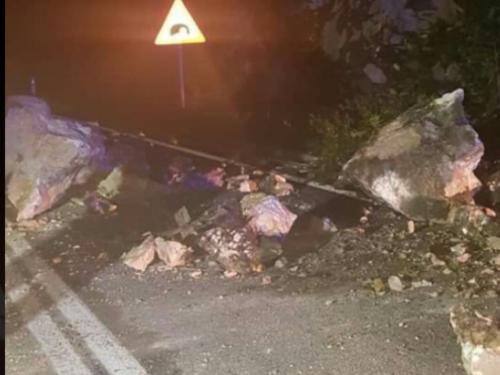 Veći odron na cesti Jablanica - Mostar