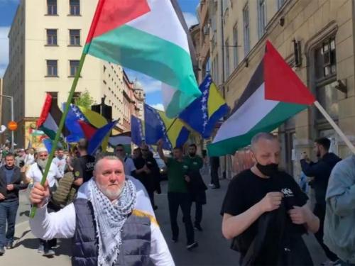 Prosvjed za Palestinu u Sarajevu - HRT: Sukob Izraela i Hamasa prenio se i na BiH?