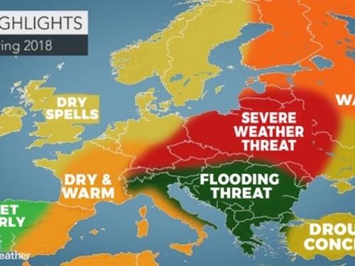 Accuweather objavio veliku prognozu za proljeće, najavili jake oluje i poplave na Balkanu