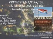 Predstavljanje knjige u Prozoru - ''Domovinski rat, pregled političke i diplomatske povijesti''