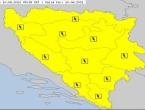 Upaljen je žuti meteoalarm u cijeloj BiH