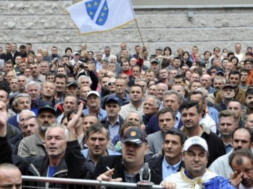 Demobilizirani borci danas ponovo pred zgradom PFBiH