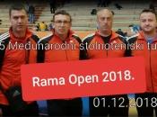 """NAJAVA: 5. Međunarodni stolnoteniski turnir """"RAMA OPEN 2018"""""""