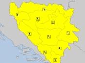 Nevrijeme najavljeno danas za područje cijele BiH