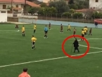 Baka usred utakmice odlučila prijeći na drugu stranu preko travnjaka