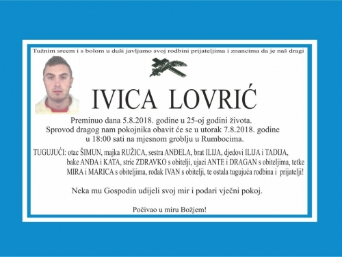 In Memoriam: Ivica Lovrić (1994.- 2018.)