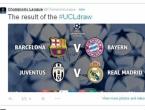 Ždrijeb: Za finale Lige prvaka Barcelona - Bayern i Juventus - Real Madrid