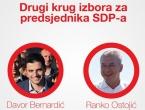U drugom krugu za čelnika SDP-a Davor Bernardić i Ranko Ostojić