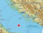 Snažan potres usred Jadranskog mora: Osjetio se u Splitu i na otocima