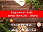 Božićna čestitka ministra pravde BiH dr. sc. Josipa Grubeše