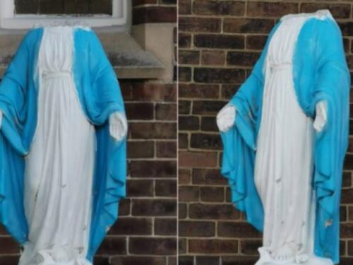 Vjernici u šoku: Obezglavljen kip Djevice Marije