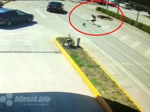 VIDEO  Motociklist teško ozlijeđen u Posušju