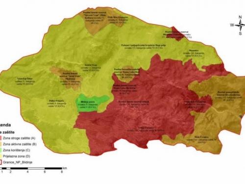Pogledajte kartografski prikaz prijedloga Nacionalnog parka Blidinje