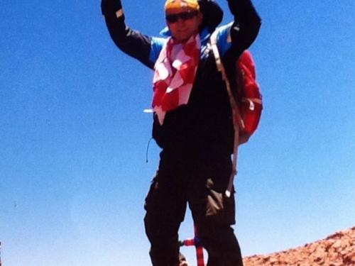 Ramac se popeo na treći najviši vulkanski vrh na svijetu