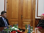 Plenković prvi dan posjete BiH završio susretom sa biskupom Perićem