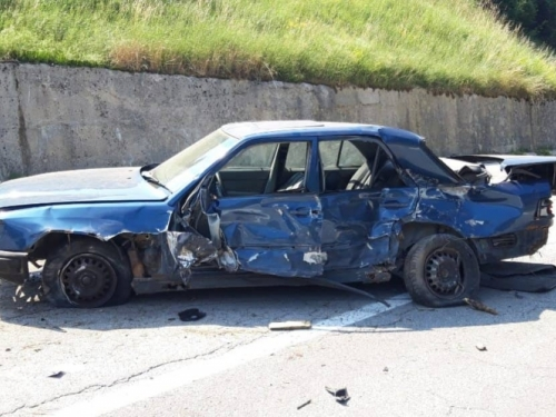 Prometna nesreća na magistralnoj cesti Prozor - Gornji Vakuf/Uskoplje